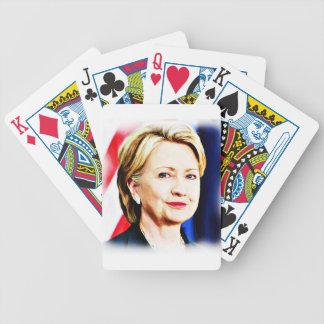 1r Presidente Hillary Clinton 2016_ de la mujer Barajas De Cartas
