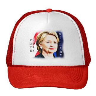 1r Presidente Hillary Clinton 2016_ de la mujer Gorro De Camionero