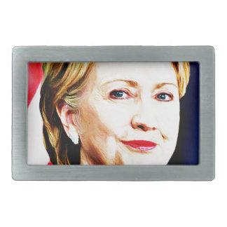 1r Presidente Hillary Clinton 2016_ de la mujer Hebillas De Cinturón Rectangulares