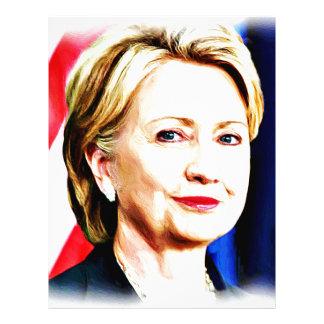 1r Presidente Hillary Clinton 2016_ de la mujer Plantilla De Membrete
