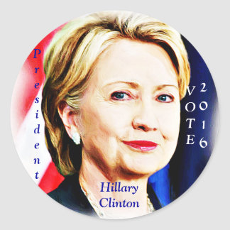 1r Presidente Hillary Clinton 2016_ de la mujer Pegatina Redonda