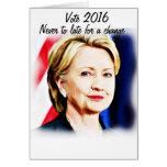 1r Presidente Hillary Clinton 2016_ de la mujer Tarjeta Pequeña
