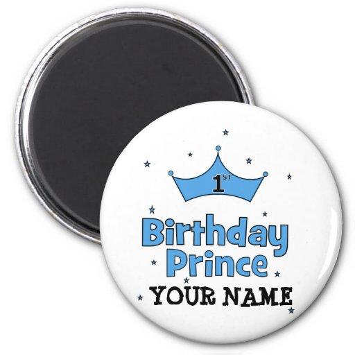 1r Príncipe del cumpleaños Imán Redondo 5 Cm