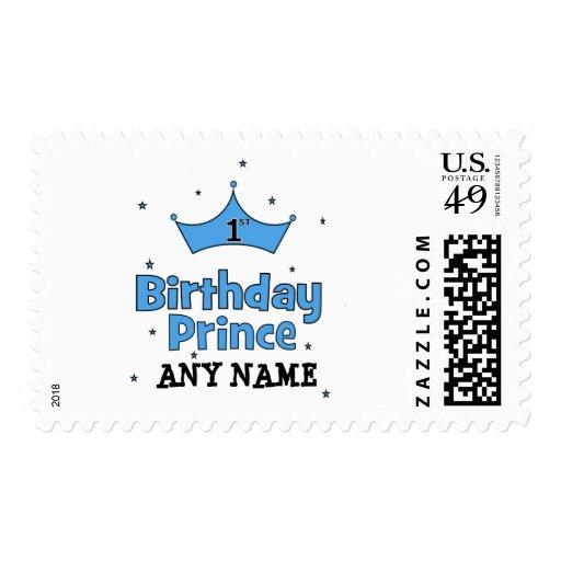1r Príncipe del cumpleaños Timbre Postal