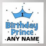 1r ¡Príncipe Poster del cumpleaños!