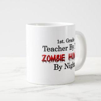 1r. Profesor del grado/cazador del zombi Taza De Café Grande
