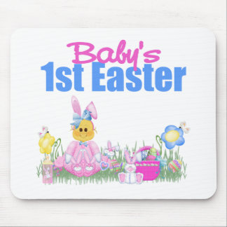 1r regalo de Pascua del bebé Alfombrillas De Ratón