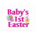 1r regalo de Pascua del bebé Postal