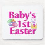 1r regalo de Pascua del bebé Tapete De Ratón