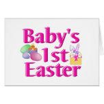 1r regalo de Pascua del bebé Tarjeta
