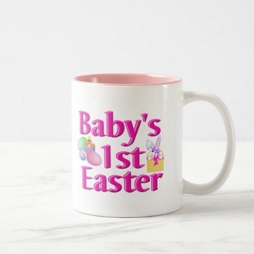 1r regalo de Pascua del bebé Taza De Dos Tonos