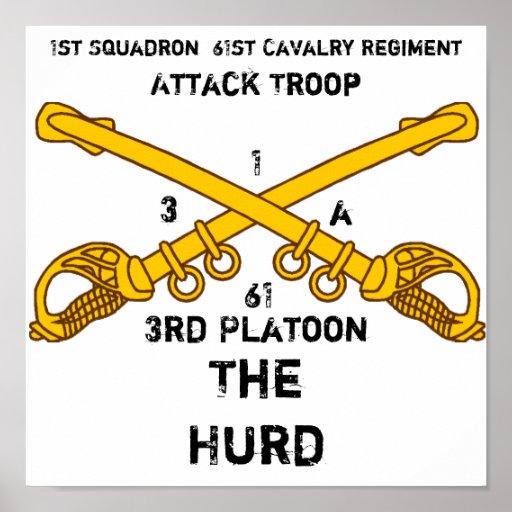 1r Regimiento de caballería de la escuadrilla 61.a Poster