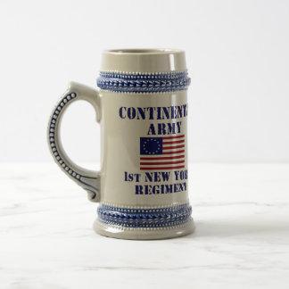 1r regimiento Stein de Nueva York de la guerra Jarra De Cerveza