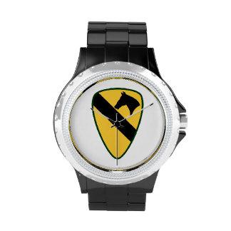 1r Reloj del logotipo de la división de la caballe