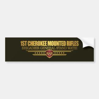 1r Rifles montados cherokees Pegatina Para Auto