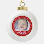 1r rojo del ornamento del navidad del bebé conocid adorno