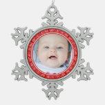 1r rojo del ornamento del navidad del bebé de enca adorno