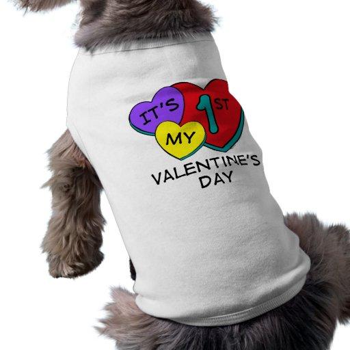 1r Ropa del mascota de los corazones del el día de Ropa De Perros