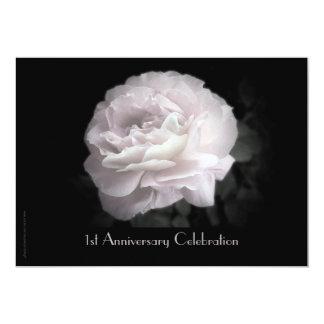 1r Rosa de la invitación de la celebración del