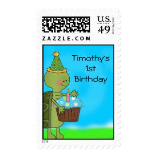 1r sello del cumpleaños de la tortuga
