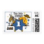 1r sello del cumpleaños del pequeño vaquero
