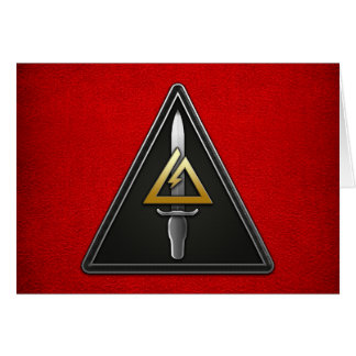 1r Separación-Delta operativo de las fuerzas Tarjeta De Felicitación