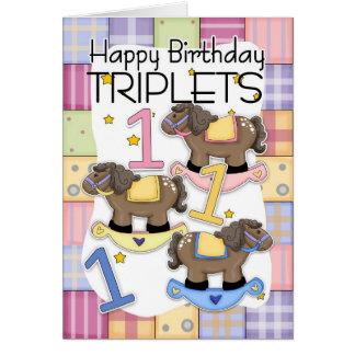 1r Tarjeta de cumpleaños para los tríos con los ca