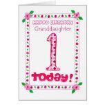 1r Tarjeta de cumpleaños para una nieta