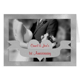 1r Tarjeta de la enhorabuena del aniversario de bo