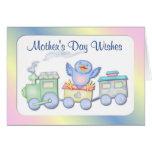 1r Tarjeta del Bluebird del día de madre
