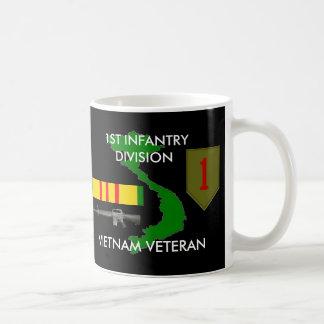 1r Taza de café del Div Vietnam de la infantería