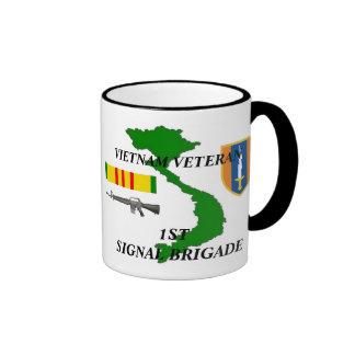 1r Tazas de café del veterano de Vietnam de la