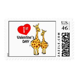 1r Tema de la jirafa del día de San Valentín