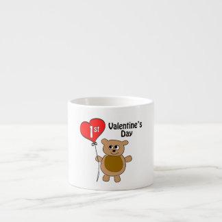 1r tema del oso del el día de San Valentín de Baby Taza Espresso