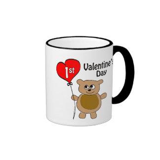 1r tema del oso del el día de San Valentín de Taza De Dos Colores
