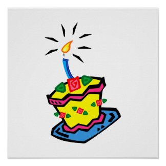 1r Torta de cumpleaños Póster