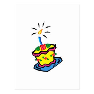1r Torta de cumpleaños Tarjeta Postal
