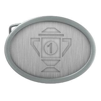 1r trofeo del lugar de la Metal-mirada Hebilla De Cinturón Oval