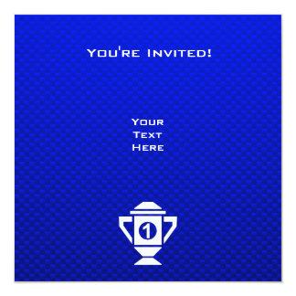 """1r trofeo del lugar del azul invitación 5.25"""" x 5.25"""""""