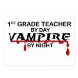 1r Vampiro del grado por noche Postal