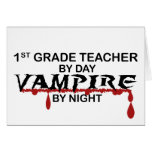 1r Vampiro del grado por noche Tarjetas