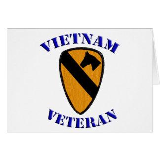 1r Veterano de Cav Vietnam Tarjeta De Felicitación