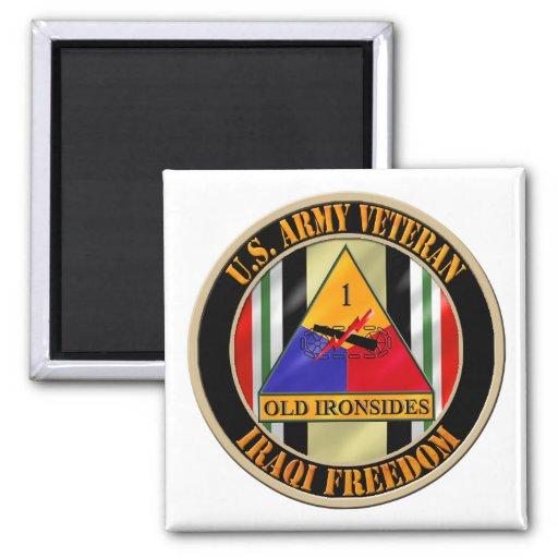1r Veterano de la división acorazada OIF Imán Cuadrado