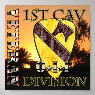 1r VETERANO de la división OIF de la caballería Póster