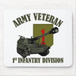 1r Veterano de la identificación - obús M109 Tapetes De Ratón
