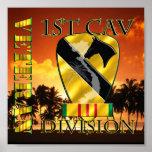 1r Veterano de Vietnam de la división de la caball Poster