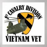 1r Veterinario de Cav Vietnam - CH-47 Poster