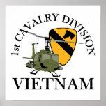 1r Veterinario de Cav Vietnam Póster