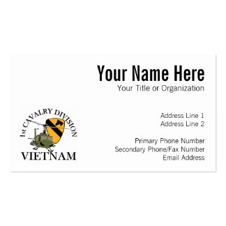 1r Veterinario de Cav Vietnam Tarjetas De Visita