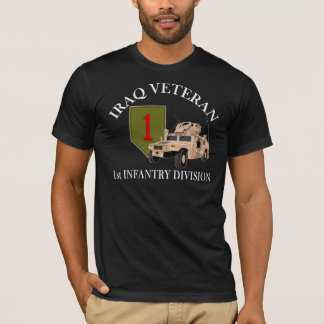 1r Veterinario de la identificación Iraq - Humvee Playera